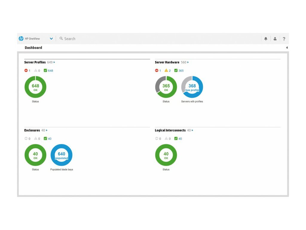 HPE OneView Tracking Licence - license + 3 Years 24x7 Support - 1 server