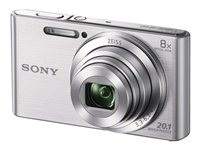 Sony Cyber-shot DSC-W830 Digital camera compact 20.1 MP 720p 8x optical zoom sil image
