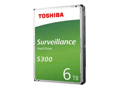 Toshiba S300 Surveillance Hard drive 6 TB internal 3.5INCH SATA 6Gb/s 7200 rpm