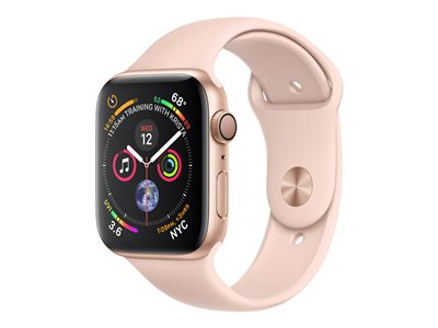 Apple Watch Series 4 (GPS) - gullaluminium - smartklokke med sportsbånd - rosa sand - 16 GB