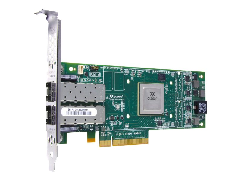 HPE StoreFabric SN1000Q 16Gb Dual Port - Hostbus-Adapter - PCIe 3.0 x4 Low-Profile - 16Gb Fibre Channel x 2 - für Modular Smart Array 2040; ProLiant DL360p Gen8, DL385p Gen8, ML350p Gen8; Stor