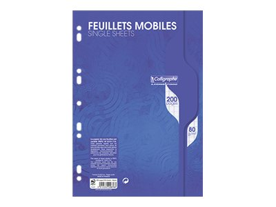 Copies Calligraphe 7000 - 100 Feuillets mobiles - A4 - blanc- Grands carreaux - perforé