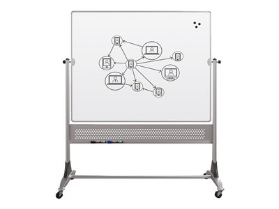 BALT Platinum Dura-Rite Whiteboard floor-standing 72 in x 48 in double-sided mobile