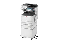 OKI MC853DNCT - Multifunction printer - colour - LED - 297 x 431.8 mm (original) - A3 (media) - up to 23 ppm (copying) - up to 23 ppm (printing) - 935 sheets - 33.6 Kbps - USB 2.0, Gigabit LAN, USB host