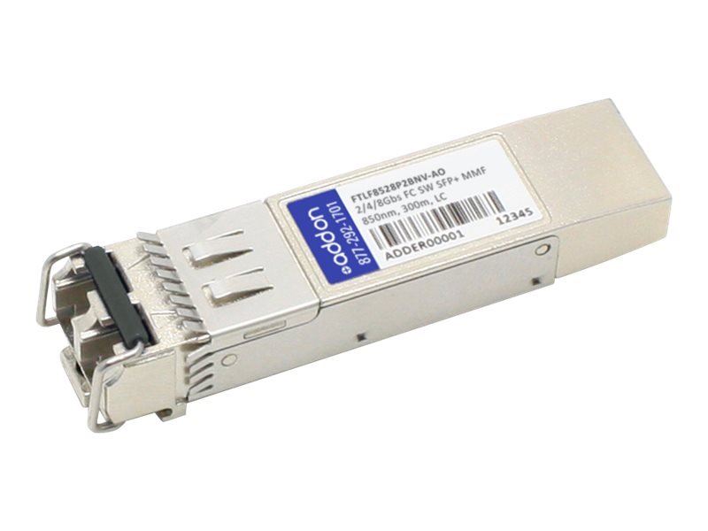 AddOn Finisar FTLF8528P2BNV Compatible SFP+ Transceiver - SFP+ transceiver module - 8Gb Fibre Channel (SW)