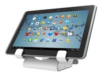 Compulocks Universal Tablet Holder Keyed Coiled Cable Lock White - Stand for tablet