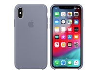 Apple - Back cover for mobile phone - silicone - lavender grey - for iPhone Xs