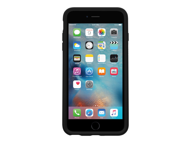 OtterBox Symmetry Series Apple iPhone 6/6s - Coque de protection pour téléphone portable - polycarbonate, caoutchouc synthétique - noir - pour Apple iPhone 6, 6s