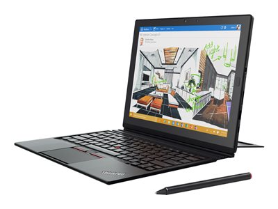 "Lenovo ThinkPad X1 Tablet 20JB - Tablet - with detachable keyboard - Core i5 7Y54 / 1.2 GHz - Win 10 Pro 64-bit - 8 GB RAM - 256 GB SSD TCG Opal Encryption 2, NVMe - 12"" IPS touchscreen 2160 x 1440 (Full HD Plus) - HD Graphics 615 - Wi-Fi, Bluetooth - black"
