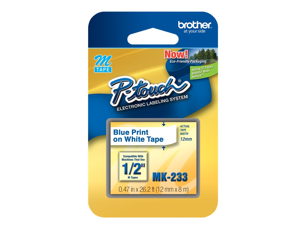 Brother MK233 - non-laminated tape - 1 roll(s) - Roll (1.2 cm x 8 m)