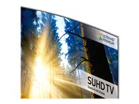 "Samsung UE49KS9000T - 49"" Class 9 Series curved LED TV - Smart TV - Tizen OS - 4K SUHD (2160p) 3840 x 2160 - HDR - local dimming, Quantum Dot technology, Precision Black Local Dimming, Supreme UHD dimming - silver"
