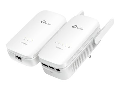 TP-Link TL-WPA8630 KIT V2 bridge 3-port switch GigE, HomePlug AV (HPAV) 2.0, IEEE 1901