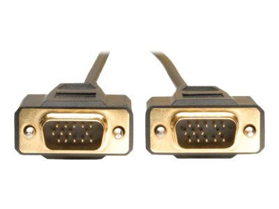 Tripp Lite 10ft VGA Monitor Gold Cable Molded Shielded HD15 M/M 10' - VGA cable - 3 m