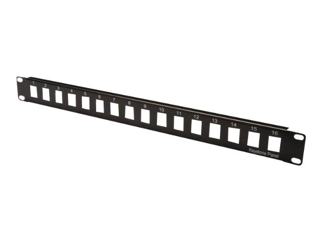 DIGITUS Professional DN-91400 - Patch Panel - Schwarz, RAL 9005 - 1U - 48.3 cm (19