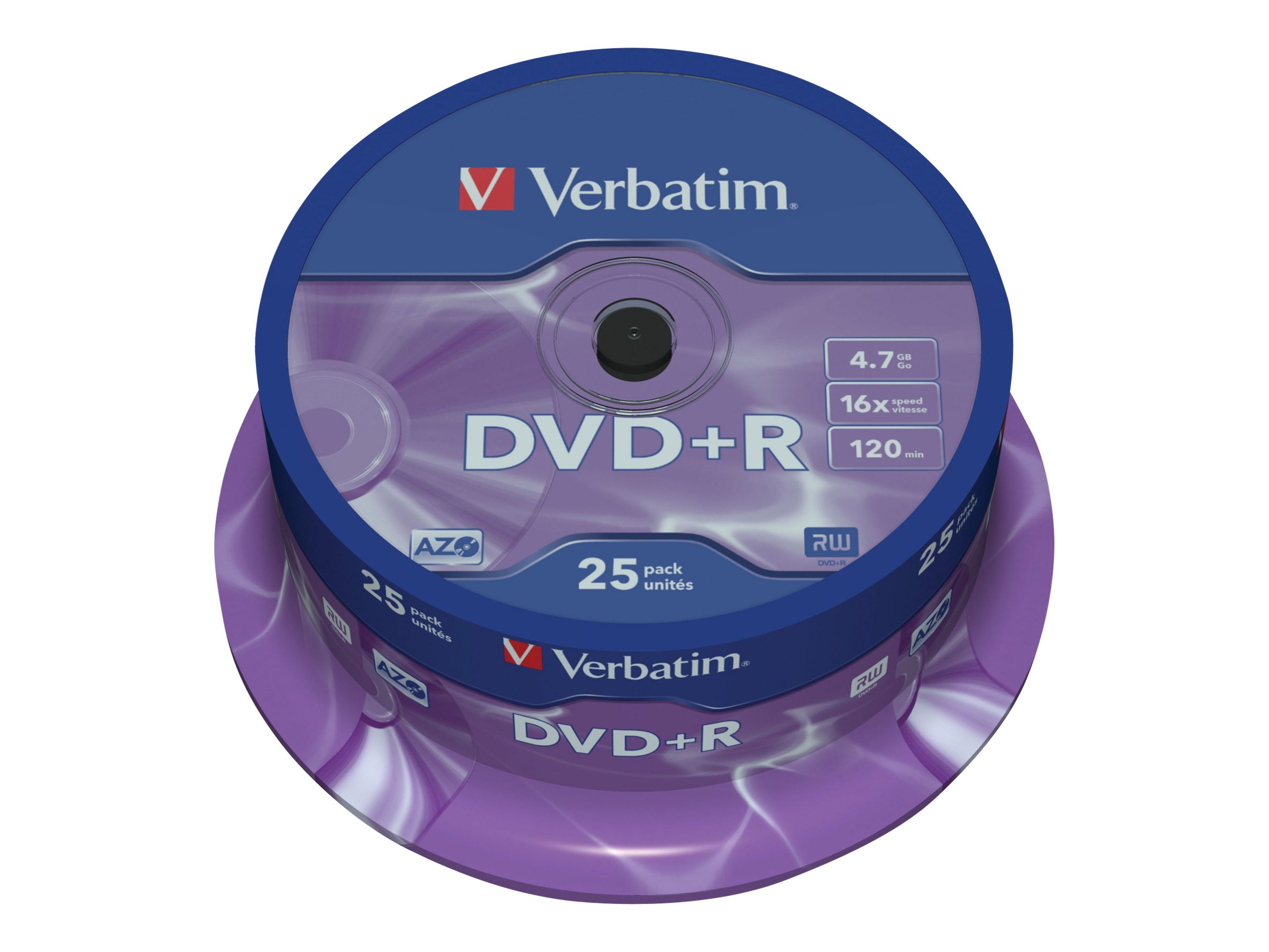 Verbatim DataLifePlus - DVD+R x 25 - 4.7 GB - storage media