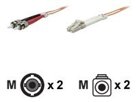 Intellinet - Patch-Kabel - ST multi-mode (M) bis LC Multi-Mode (M) - 1 m - Glasfaser - 62,5/125 Mikrometer