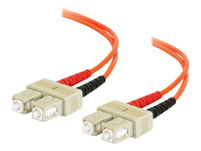 C2G SC-SC 62.5/125 OM1 Duplex Multimode Fiber Optic Cable (TAA Compliant) Patch cable