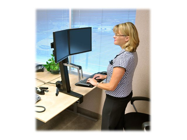 Ergotron WorkFit-S Dual Monitor Standing Desk Workstation