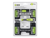 goobay - Precision screwdriver with bit and socket set