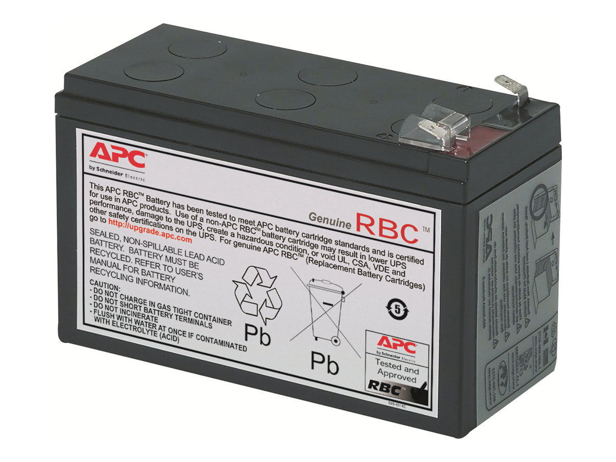 APC Replacement Battery Cartridge #2 - USV-Akku - 1 x Bleisäure - Schwarz - für P/N: BE500TW, BE550-CP, BK250B, BK280B, BK400B, BK500-CH, BP280, BP280C, BX900R-CN