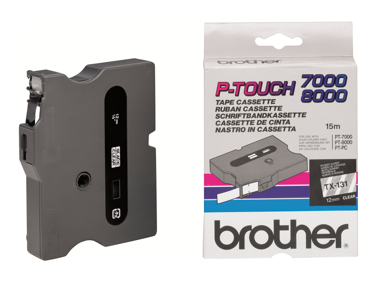 Brother - Rolle (1,2 cm x 8 m) laminiertes Band - für P-Touch PT-8000, PT-PC
