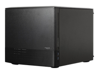 Fractal Design Node 804 - Desktop - micro ATX - no power supply - brushed aluminium black - USB/Audio