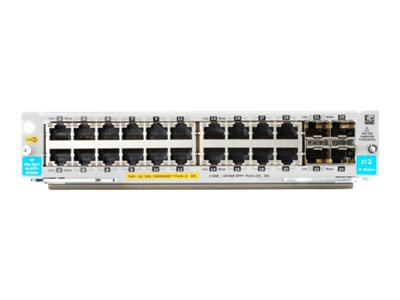 HPE - expansion module - Gigabit Ethernet (PoE+) x 20 + Gigabit Ethernet / 10 Gigabit SFP+ x 4