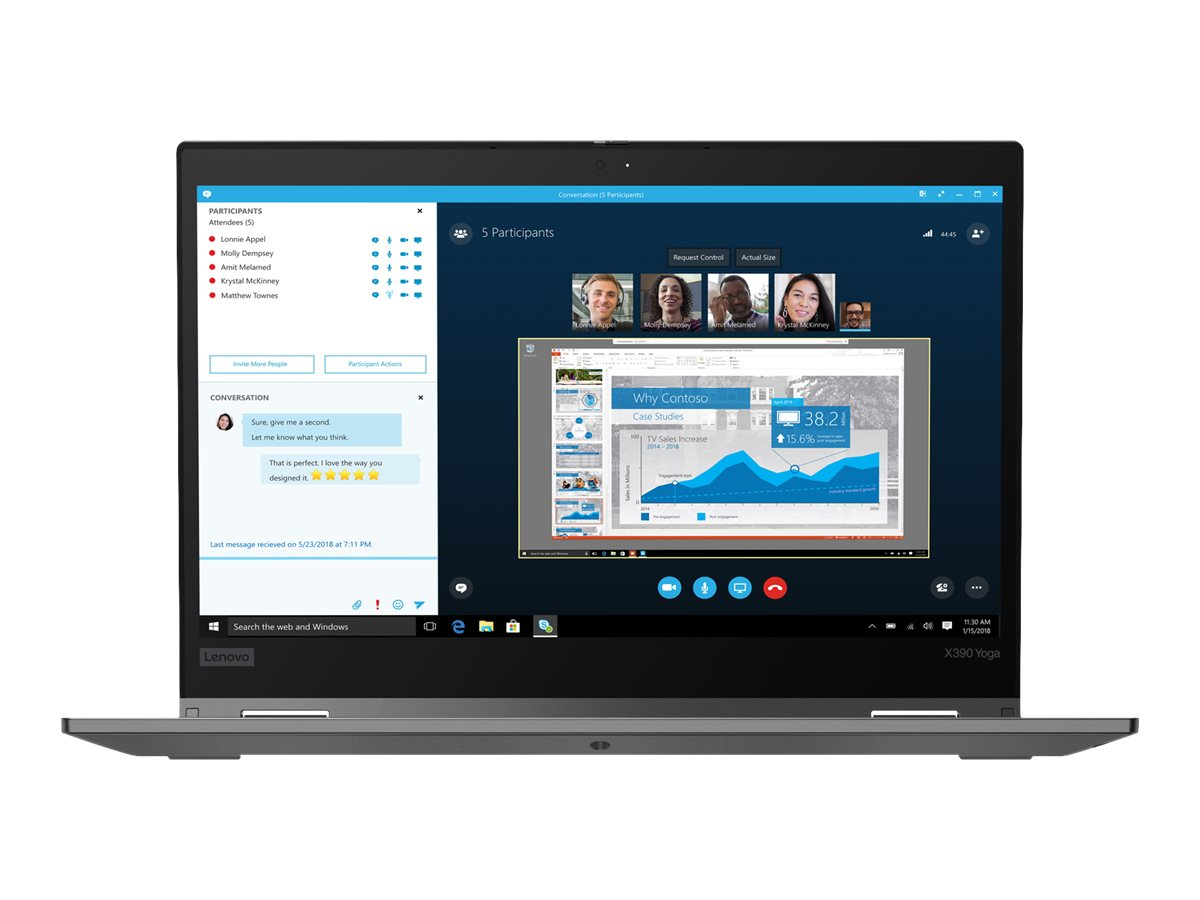 "Lenovo ThinkPad X390 Yoga - 13.3"" - Core i5 8265U - 8 GB RAM - 256 GB SSD - US"