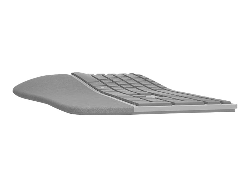 Microsoft Surface Ergonomic Keyboard - Tastatur - drahtlos - Bluetooth 4.0 - Deutsch - Alcantare grau