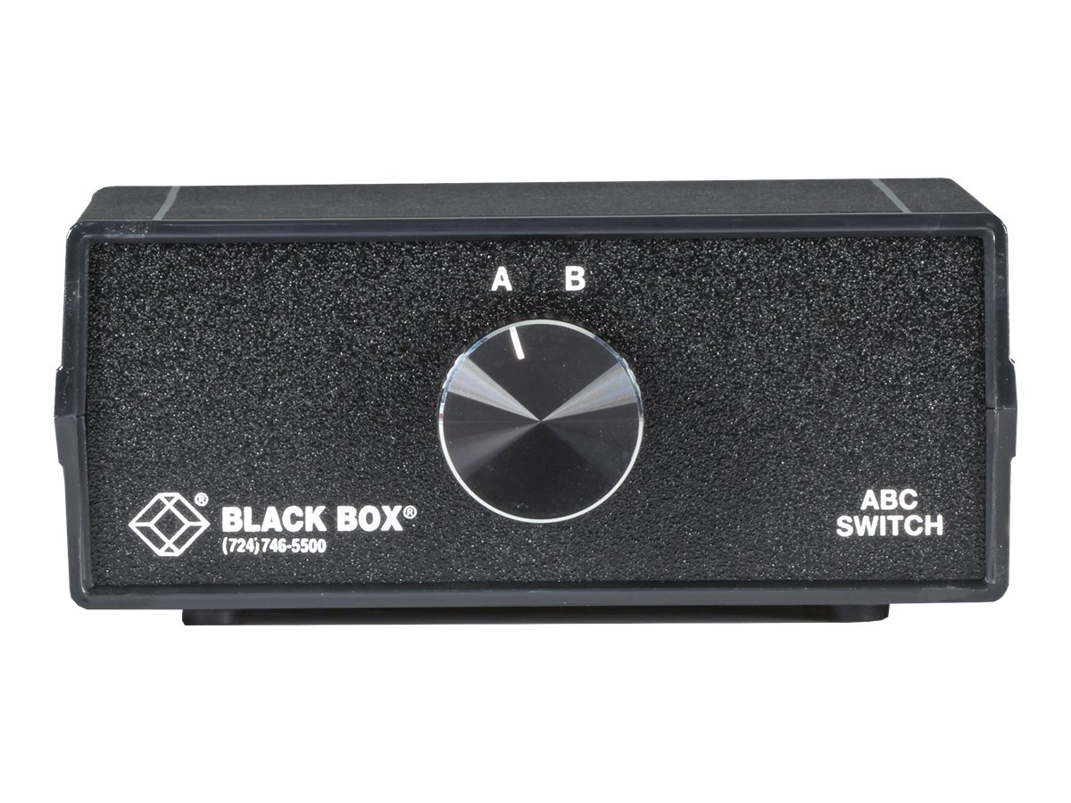 Black Box ABC Manual Switch - switch - 2 ports