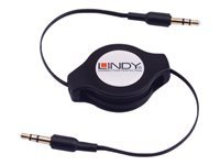 Lindy - Audio cable - stereo mini jack (M) to stereo mini jack (M) - 1.1 m - black - retractable