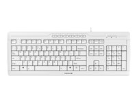 CHERRY STREAM 3.0 Keyboard USB US English with EURO symbol pale gray