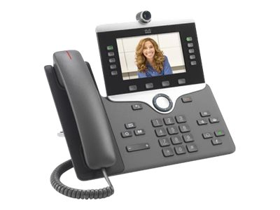Cisco IP Phone 8845 - IP-Videotelefon - Digitalkamera, Bluetooth-Schnittstelle - SIP, SDP - 5 Leitungen - Anthrazit