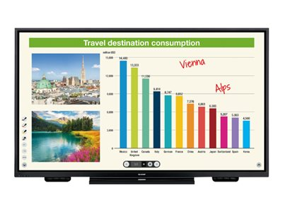 Sharp PN-L851H 85INCH Diagonal Class (84.6INCH viewable) Aquos Board LED display interactive  image