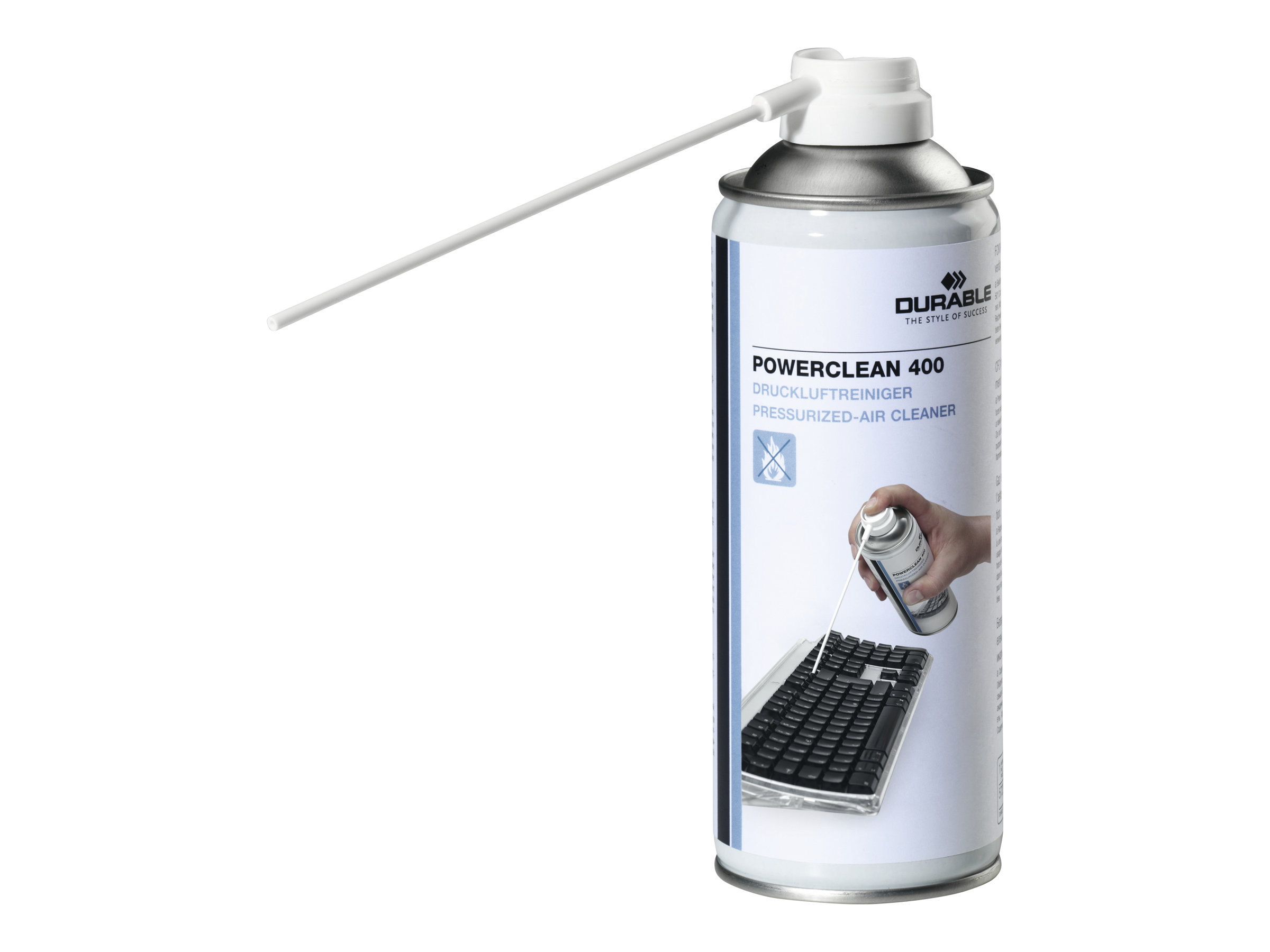 DURABLE Powerclean 400 - Spray dépoussiérant - transparent