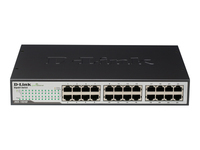 D-Link DGS 1024D - Switch - unmanaged - 24 x 10/100/1000 - desktop, rack-mountable