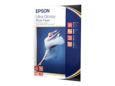 Papier photo Epson Ultra Glossy Photo Paper - papier photo - 15 feuille(s) - A4