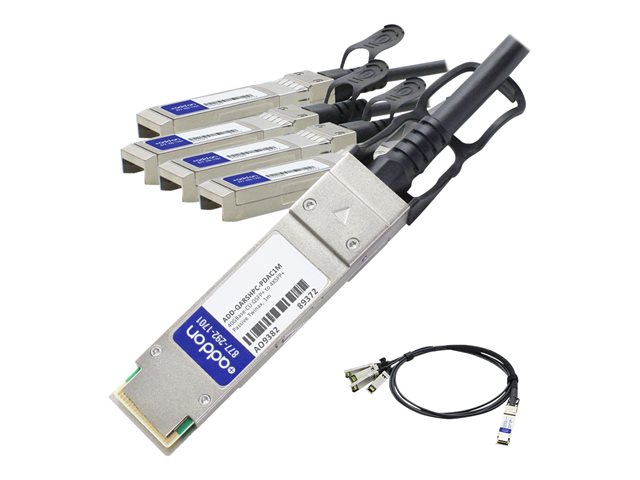 AddOn - 40GBase-CU direct attach cable - TAA Compliant - QSFP+ to SFP+ - 1 m - twinaxial - passive
