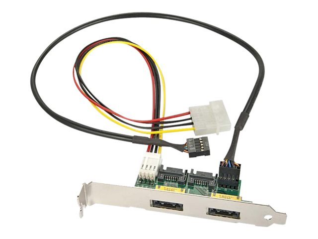 Lindy - Power Over eSATA panel - Serial ATA 150/300 - 4 PIN internal power, 7 pin SATA, 9 pin USB 2.0 header to 11 pin USB/eSATA (F)