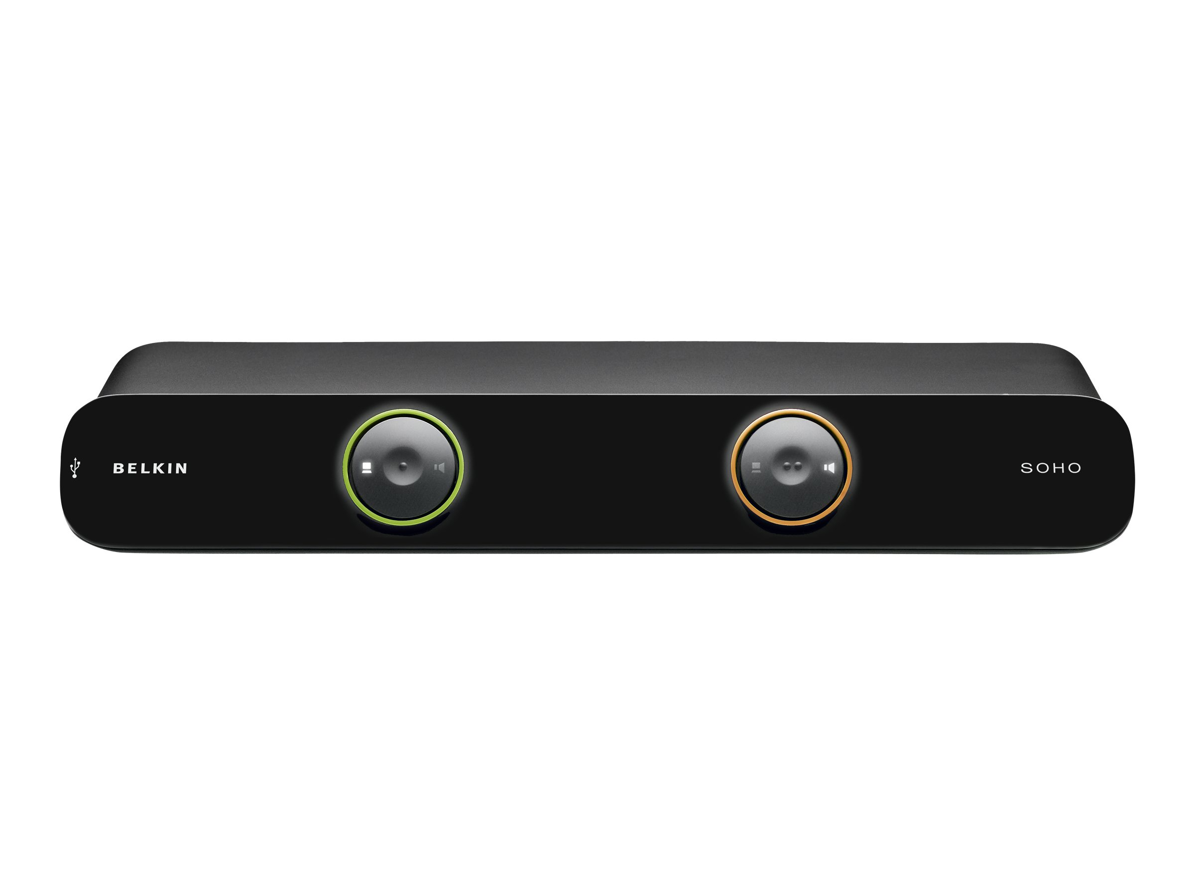 Belkin SOHO KVM Switch DVI & USB - KVM-/Audio-/USB-Switch - 2 x KVM/Audio/USB - 1 lokaler Benutzer - Desktop