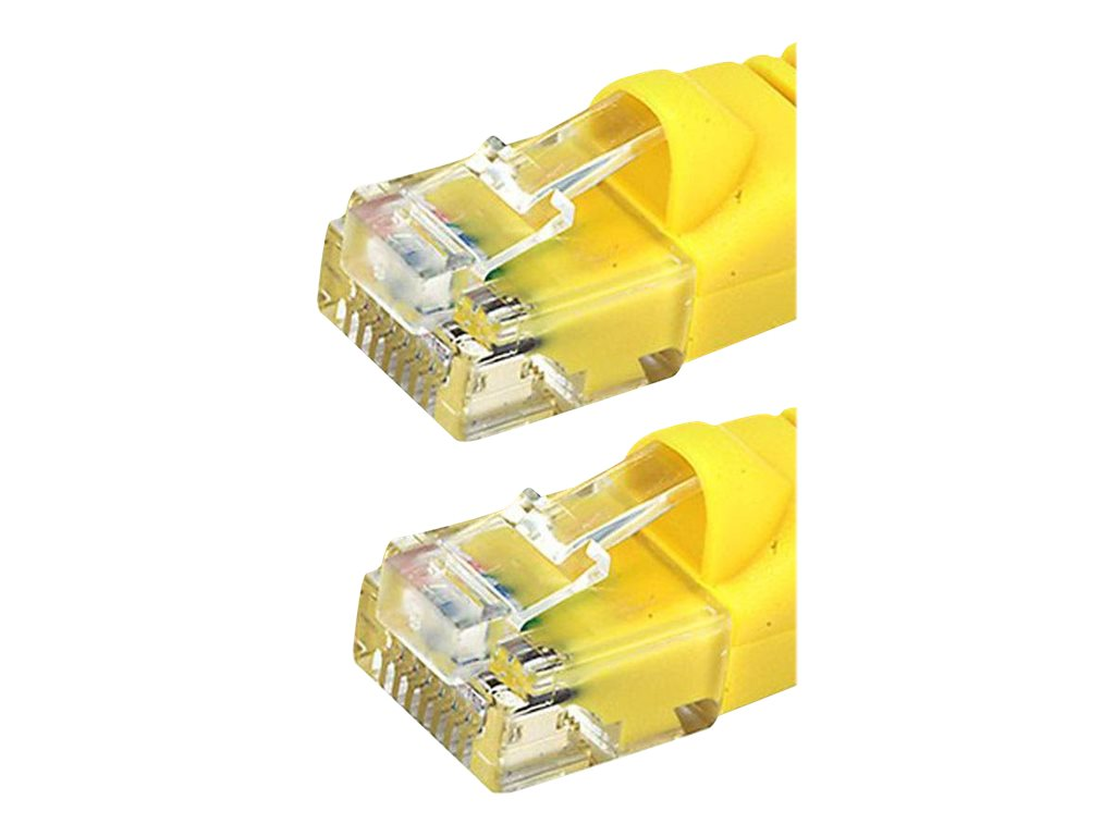 Monoprice patch cable - 2.13 m - yellow