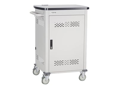 Black Box Single Frame with Large Slots and Hinged Door Cart for 18 tablets