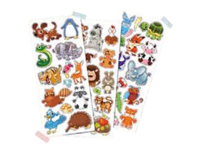 Scrapbooking Oberthur - 42 Gomettes - animaux