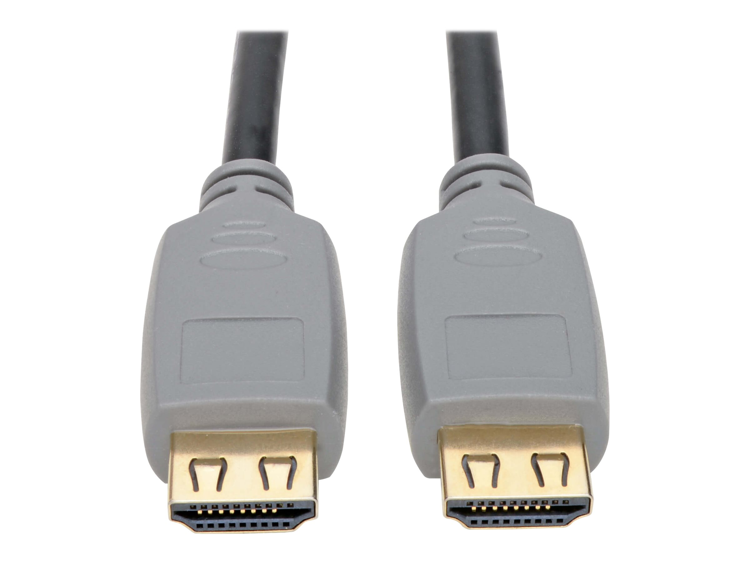 Tripp Lite High-Speed HDMI Cable with Gripping Connectors 4K 60 Hz 4:4:4 M/M Black 15ft - HDMI cable - 4.57 m