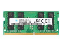 HP - DDR4 - 4 GB - SO-DIMM 260-pin - 2400 MHz / PC4-19200 - 1.2 V - unbuffered - non-ECC - promo - for Elite Slice, Slice for Meeting Rooms, Slice for Meeting Rooms G2 for Intel Unite; EliteDesk 800 G3 (SO-DIMM); EliteOne 1000 G1, 1000 G2, 800 G3; ProDesk 400 G3 (SO-DIMM), 600 G3 (SO-DIMM); ProOne 400 G3, 440 G3, 600 G3