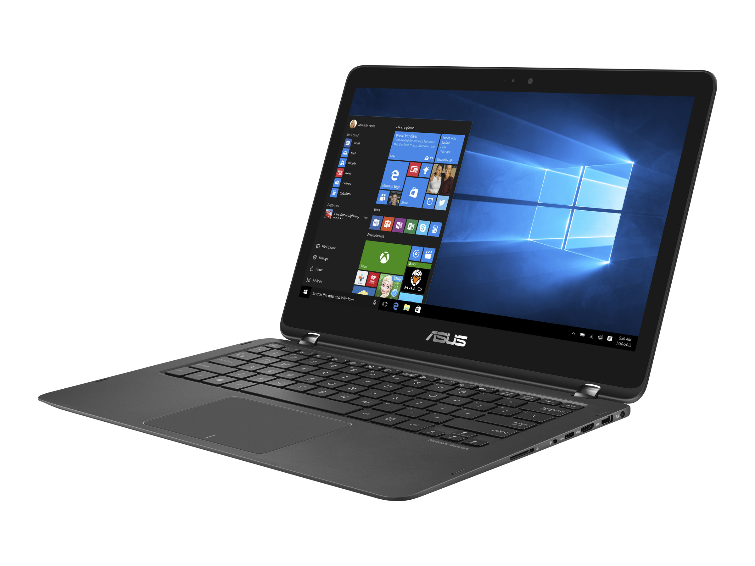 ASUS ZenBook Flip UX360UAK BB415T - Flip-Design - Core i5 7200U / 2.5 GHz - Win 10 Home 64-Bit - 8 GB RAM - 256 GB SSD