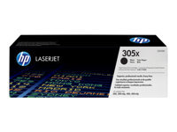 HP 305X - High Yield - black - original - LaserJet - toner cartridge ( CE410X ) - for LaserJet Pro 300 colour M351a, 300 colour MFP M375nw, 400 colour M451, 400 colour MFP M475