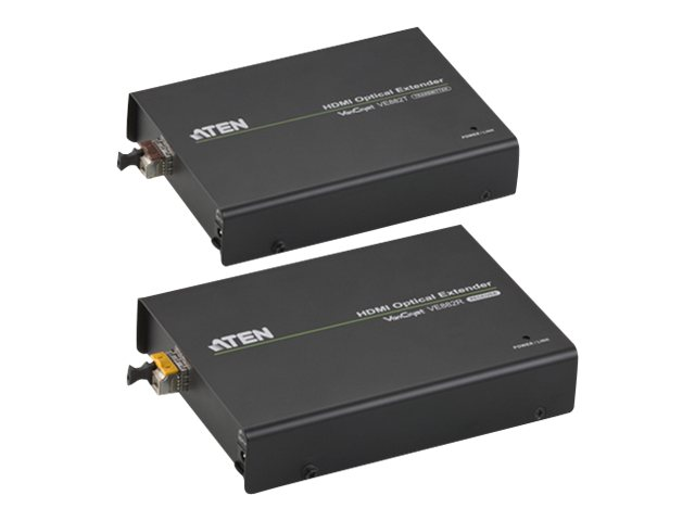 ATEN VanCryst VE882 HDMI Optical Extender Transmitter and Receiver Units - video/audio/infrared/serial extender - HDMI