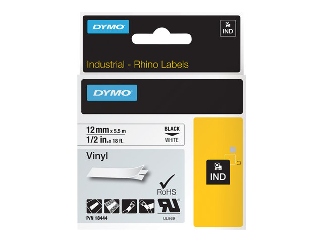 Image of DYMO IND All-Purpose - label tape - 1 roll(s) - Roll (1.2 cm x 5 m)