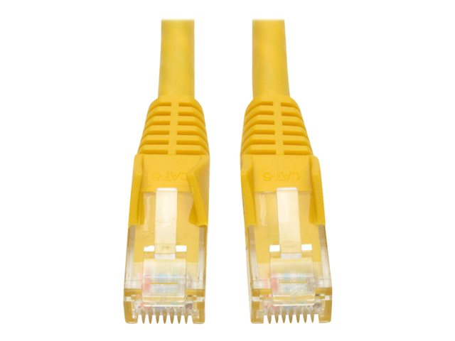 Tripp Lite 6ft Cat6 Gigabit Snagless Molded Patch Cable RJ45 M/M Yellow 6'